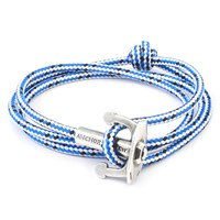 Anchor And Crew Union Rope And Silver Bracelet Blue Dash
