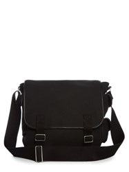 Saint Laurent Canvas Messenger Bag Black