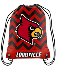 Forever Collectibles Louisville Cardinals Chevron Drawstring Backpack Red