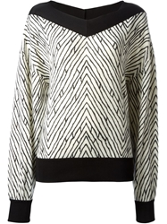 Emanuel Ungaro Geometric Pattern Loose Fit Sweater Nude And Neutrals