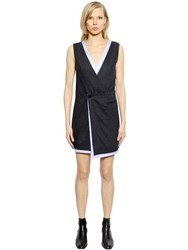 Each X Other Pinstriped Wool And Cotton Poplin Dress