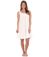 Eileen West Cotton Lawn Embroidered Chemise White Women's Pajama