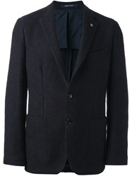 Tagliatore Two Button Blazer Blue