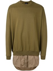 3.1 Phillip Lim Shirt Tail Sweatshirt Green