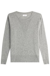 Velvet Cashmere Pullover With Waffle Detailing Grey