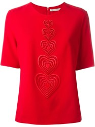 Christopher Kane Macrame Heart T Shirt Red