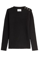 Zadig And Voltaire Pullover With Statement Buttons Black