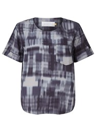 John Lewis Collection Weekend By Patchwork Print Top Indigo