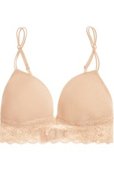 Cosabella Never Say Never Soire Mesh And Lace Soft Cup Bra Neutral