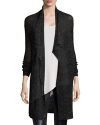 Eileen Fisher Shimmered Knit Draped Cardigan