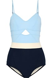 Flagpole Swim Joellen Cutout Color Block Swimsuit Light Blue