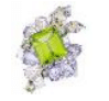 Anna Hu Haute Joaillerie Athena's Laurel Collection Athena's Laurel Ring In Peridot Green