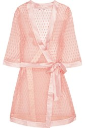 Mimi Holliday By Damaris Angels Trumpet Polka Dot Mesh Robe Blush