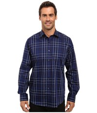 Bugatchi Alessio Long Sleeve Woven Shirt Navy Men's Long Sleeve Button Up