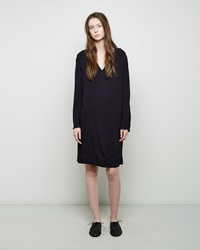 Raquel Allegra Crepe Shift Dress Indigo