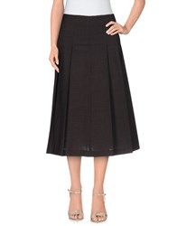 Gold Case Skirts 3 4 Length Skirts Women Steel Grey