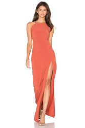 Donna Mizani Square Neck Maxi Dress Rust