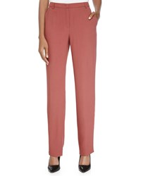 Escada Straight Leg Woven Pants Litchi