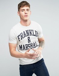 Franklin And Marshall Logo T Shirt Original Grey
