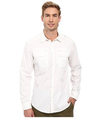 Calvin Klein Jeans Modern Military Dye Shirt Classic White Men's Long Sleeve Button Up Beige