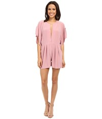 Norma Kamali Rectangle Jumpshorts Pink Women's Jumpsuit And Rompers One Piece