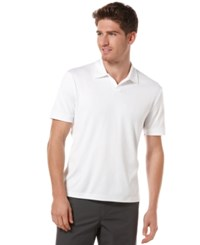 Perry Ellis Big And Tall Short Sleeve Open Polo Shirt Bright White