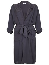 Ghost Sera Trench Coat Charcoal