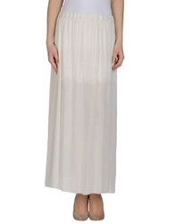 Please Long Skirts Ivory