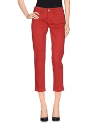 Shaft Trousers 3 4 Length Trousers Women Brick Red