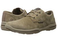 Skechers Relaxed Fit Harper Epstein Light Brown Leather Men's Lace Up Casual Shoes
