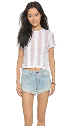 Madewell Lace Crop Top Eyelet White