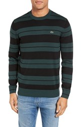 Lacoste Men's Jersey Stripe Crewneck Sweater