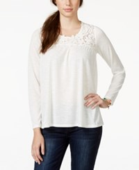 American Rag Long Sleeve Crochet Top Only At Macy's