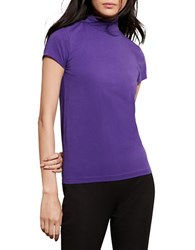 Lauren Ralph Lauren Jersey Short Sleeve Turtleneck Purple