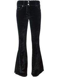 Filles A Papa 'Hunter' Velvet Trousers Black