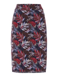 Dickins And Jones Alice Aline Floral Printed Skirt Multi Coloured