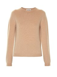 Jil Sander Round Neck Long Sleeved Sweater Camel