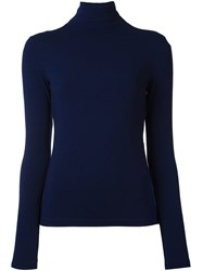 Plein Sud Jeanius Roll Neck Jumper Blue