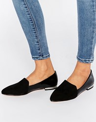 London Rebel Point Flat Shoes Black Mf