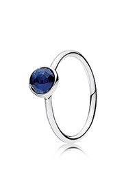 Pandora Design Ring Sterling Silver And Glass September Birthstone Droplet