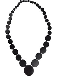 Monies Disc Strand Necklace Black