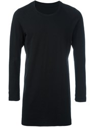 11 By Boris Bidjan Saberi Long Length Long Sleeve Sweater Black