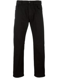 Armani Jeans Straight Leg Trousers Black