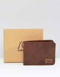 Quiksilver Quicksilver Round Up Wallet In Brown Leather Brown