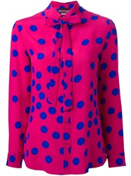 Moschino Polka Dot Blouse Pink And Purple