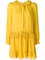 Vanessa Bruno Athe Peasant Dress Yellow And Orange