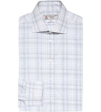 Turnbull And Asser Slim Fit Multi Stripe Cotton Shirt Wht Navy