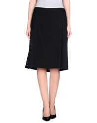 Thinple Knee Length Skirts Black