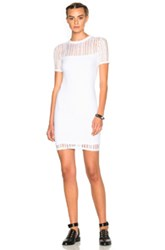 Alexander Wang T By Jacquard Short Sleeve Dress In White