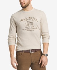 G.H. Bass And Co. Men's Thermal Knit Graphic Print Shirt White